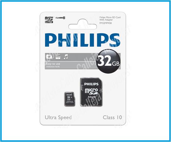 Philips micro SD Clase 10 32GB