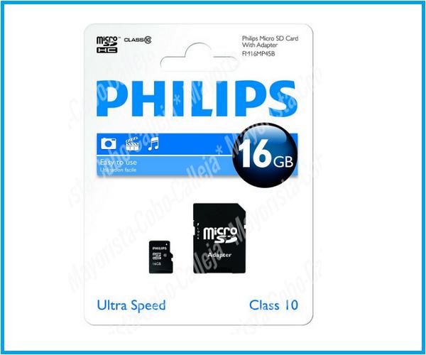 Philips micro sd clase 10 16GB