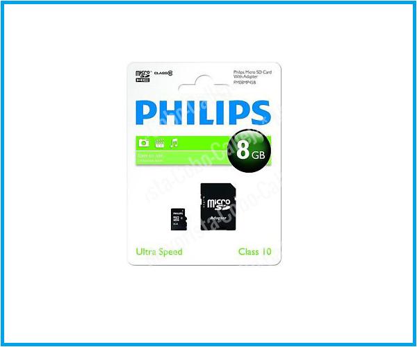 Philips micro Sd clase 10 8GB