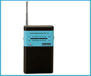 Radio Daewoo drp100 azul negra