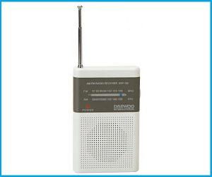 Radio Bolsillo DAEWOO DRP100 BLANCO Y GRIS