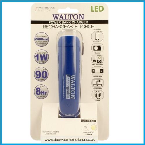 Power bank Walton 2400 azul