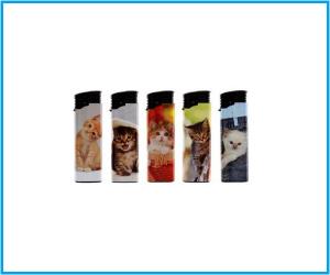 Mechero electrónico Atomic gatos