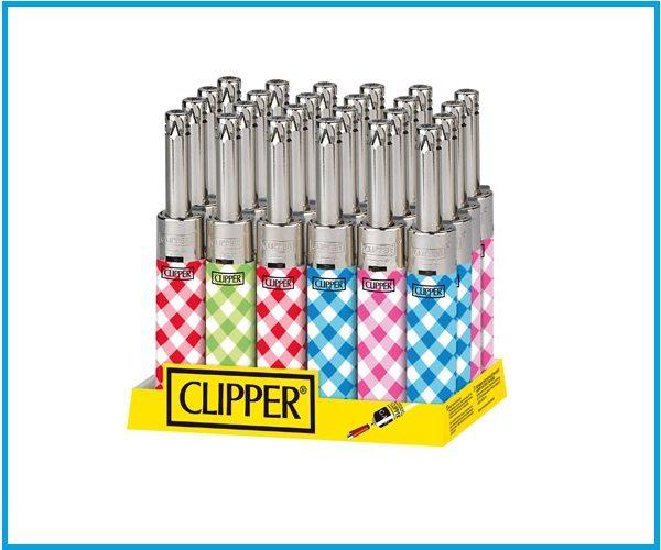Mechero clipper mini tube cuadros