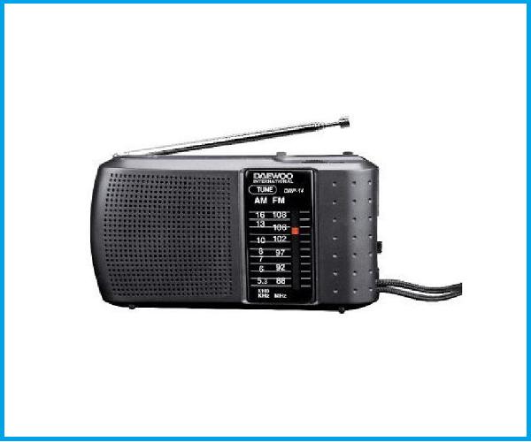 Radio Daewoo portátil drp14 negra