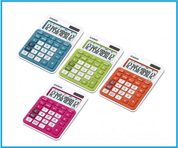 Calculadora Casio sobremesa MS20NC colores