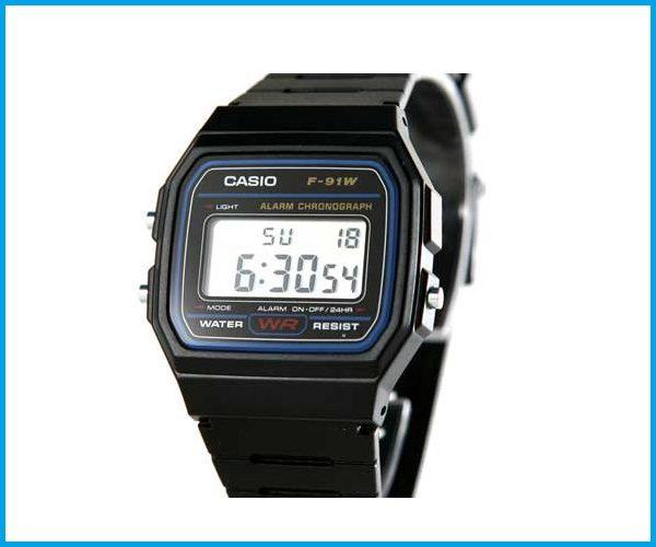 Reloj Casio Retro F91 w color negro