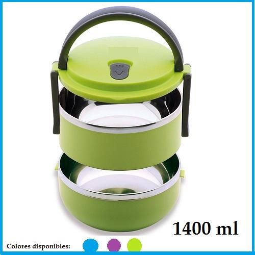 Porta Alimentos Térmico 1400 ml doble capacidad