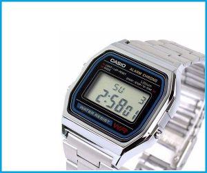 Reloj Casio a158 wa plateado