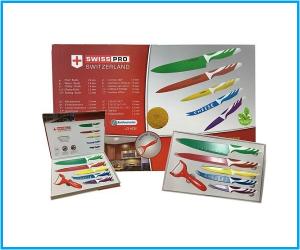 Set cuchillo revestido cerámico colores