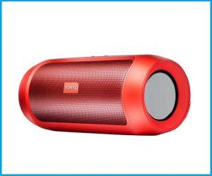 Altavoz cilindrico qs128 rojo
