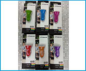 Cargador USB doble coche 12v colores POLAROID