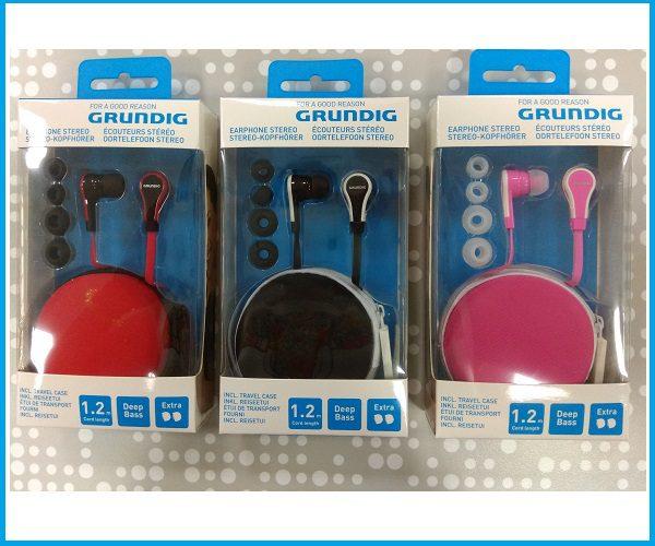 Auricular Grundig con estuche transporte colores 95052
