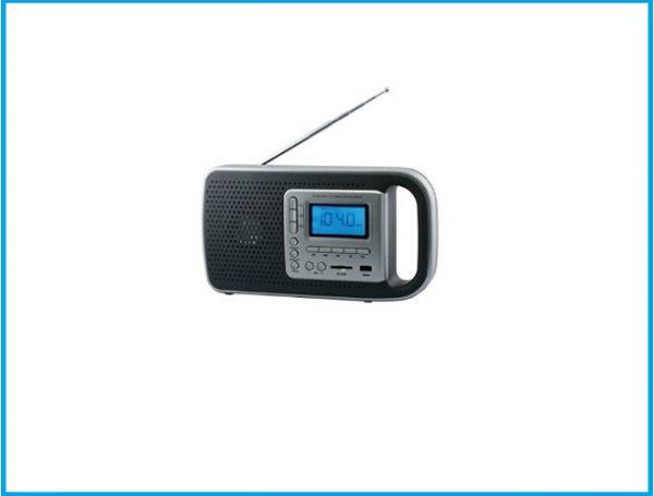 Daewoo DRP-121 Reloj Negro, Gris - Radio (Reloj, LED, Batería, USB)
