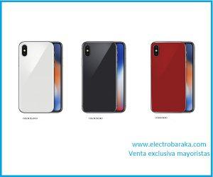 Cristal protector trasero iphone X rojo