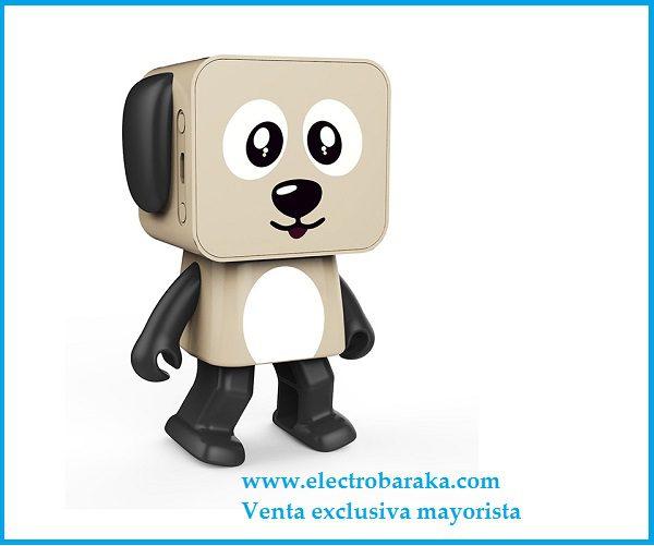 Altavoz Bailarín perro bluetooth marrón