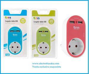 Adaptador de corriente USB colores
