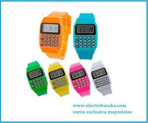 Reloj niños calculadora colores